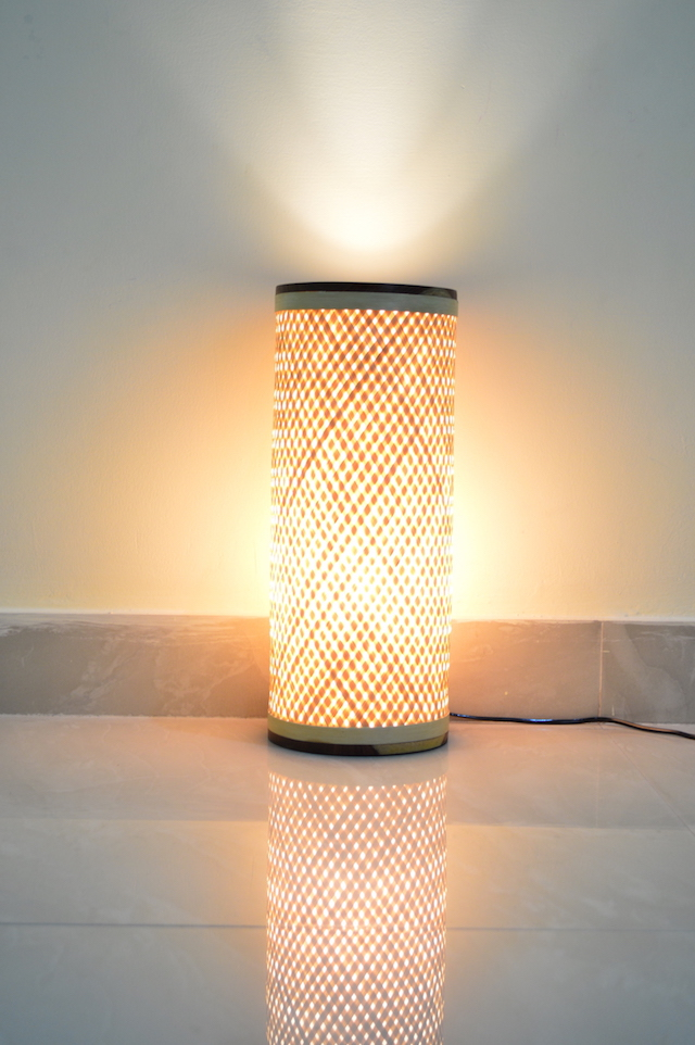 Beautiful bamboo lamp at Bodhi Yoga